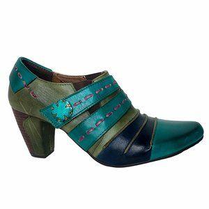 L'ARTISTE RARE Wondrous Spring Step Heels Leather